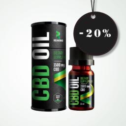 Reakiro CBD olaj 1500 mg 10 ml 15%