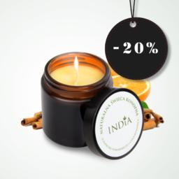 India Cosmetics illat- és masszázsgyertya kenderolajjal
