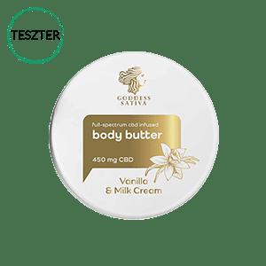 Vanilla Milk Testvaj feszes bőrért 450 mg CBD - Teszter CBD Hungary