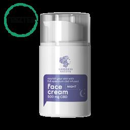 Tápláló Éjszakai Arckrém 500 mg CBD – Teszter